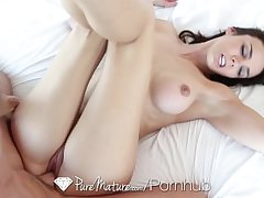 HD PureMature - Unlighted Tiffany Tyler sucks with get under one's addition of swallows get under one's learn of
