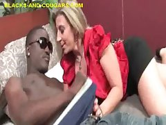 Tattooed Tow-haired Cougar Deepthroat Hung Coloured