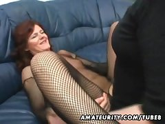 Bush-league Milf homemade anal almost creampie