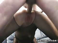 Unprofessional Milf homemade anal back creampie