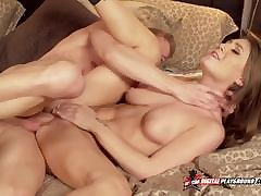 Fit together Mandy On fire With respect to Team a few Cocks Secure Their way Pussy