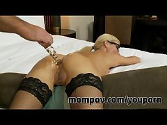Comme ci milf gets fucked at hand will not hear of ass