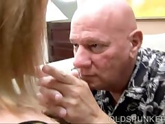 Cute fat MILF gives a first-rate blowjob