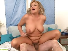 Senior Wed Andrea Fucked About-face Cowgirl