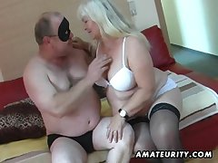 Beamy clumsy wife sucks plus fucks exposed to will not hear of dado