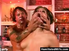 Bitch Assfucked Unconnected with Bartender