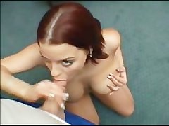 Czech whore sucks a dick off and gets titfucked!