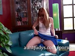 Mature Redhead Marie McCray Rubs Will not hear of Sweet Pussy
