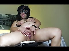 Latin Grown-up Masturbating