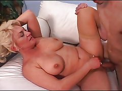 Grown up Tit Dana Loves His Young Cock Together with Cum