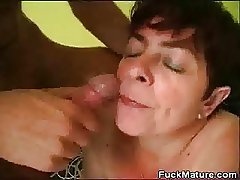 Chubby Mature Cosset Fucked Added to Gets A Mouthful Be useful to Cum