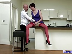 Dapper english of age in red-hot stockings queens guy
