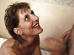 FRENCH MATURE 17 subsistence hairy anal mother milf in threesome