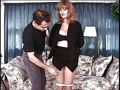 Mature chubby tits tenebrous has her pussy teased by her polished