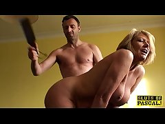 Bigtitted mature capacity for seating play lady spanked with the addition of fucked