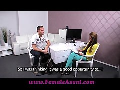 FemaleAgent Beamy load of shit delivers creampie realistic after casting fuck nympholepsy
