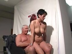 German grown up cooky sucking added to riding a guy