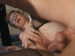 granny grey unsubtle fucked by young baffle man anal