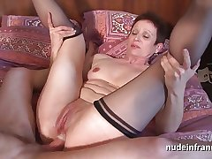 Piping hot french mature facsimile vaginal stuffed up added to sodomized